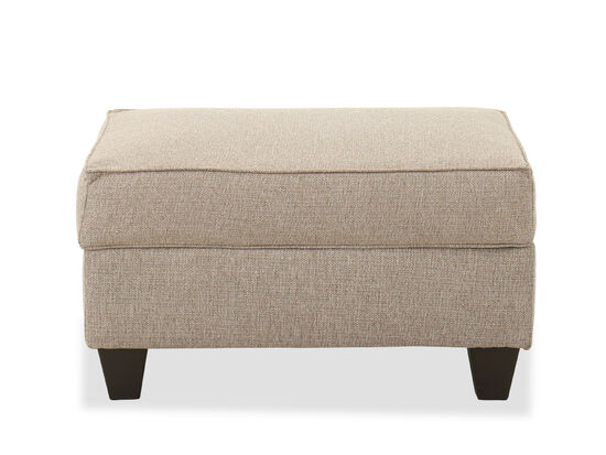 Casual Storage Ottoman in Oak