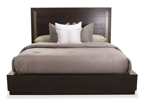 "58"" Modern King Panel Bed in Dark Barton"