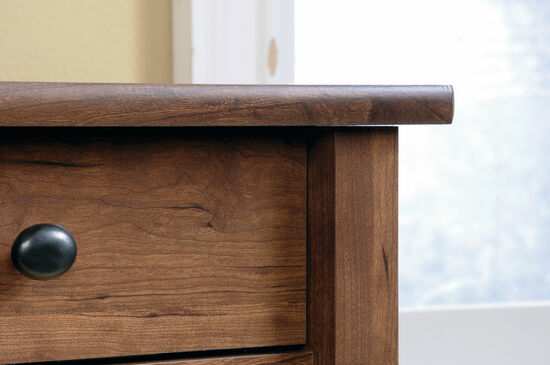 29'' Two-Drawer Contemporary Utility Stand in Auburn Cherry