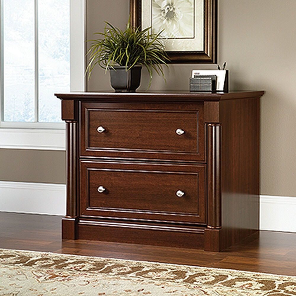 Two-Drawer Traditional Lateral File Cabinet in Cherry