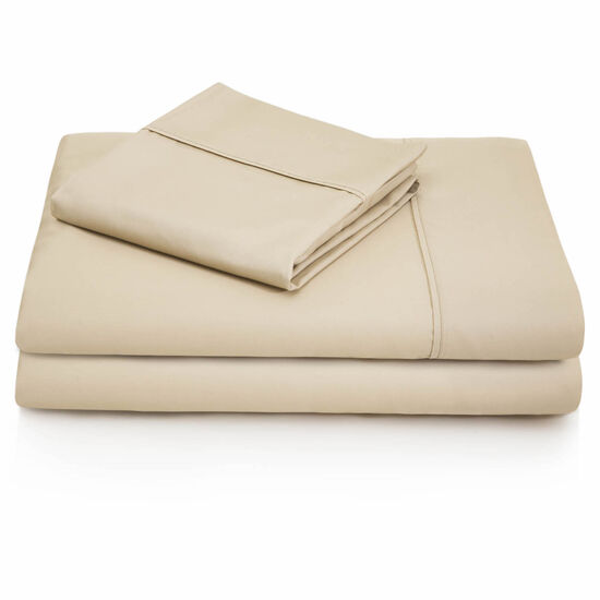 Malouf 600 Thread Count Cotton Blend Full Sheet Set in Driftwood