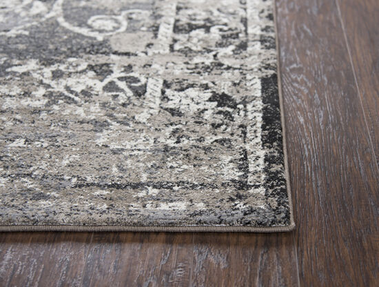 Transitional Power-Loomed 7.1 x 10.1 Rectangle Rug in Taupe