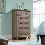 "50"" Traditional Turned Feet Five-Drawer Chest in Salt Oak"