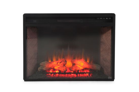 "24"" Remote Controlled Contemporary Infrared Fireplace in Warm Brown"