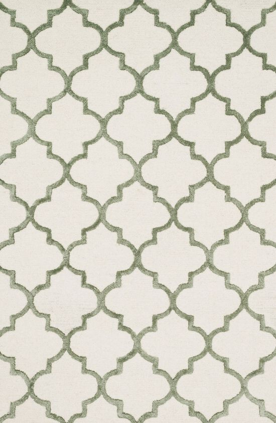 "Transitional 2'-3""x3'-9"" Rug in Ivory/Sage"