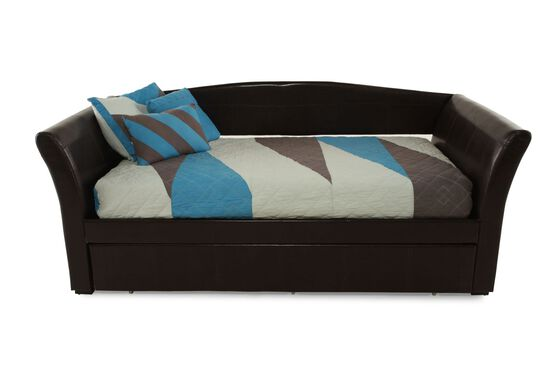 Contemporary Youth Daybed with Trundle in Chocolate
