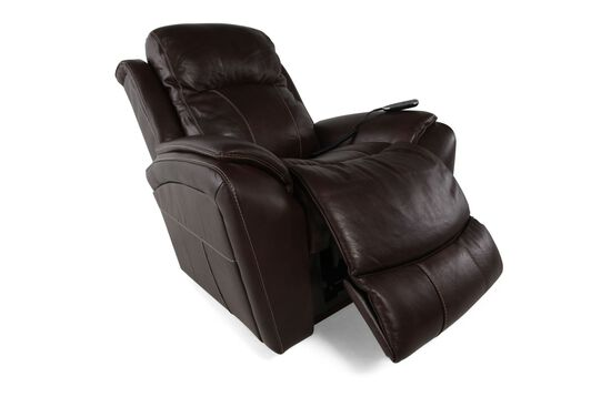 """Contemporary Leather 40"""" XR+ Power Recliner in Dark Cocoa"""