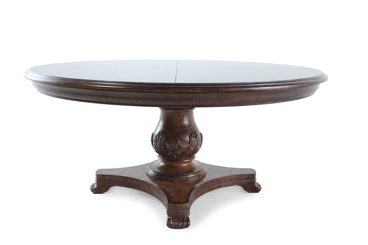Traditional 66 Quot Round Dining Table In Vintage Melange