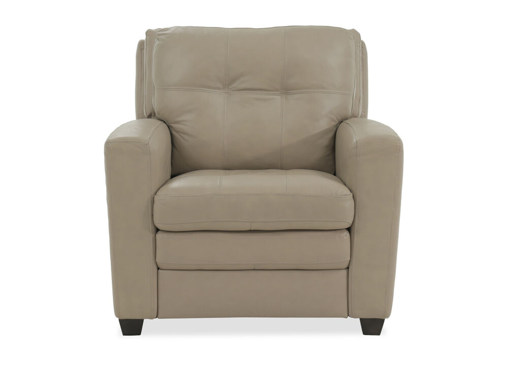 Tufted Leather Chair in Beige