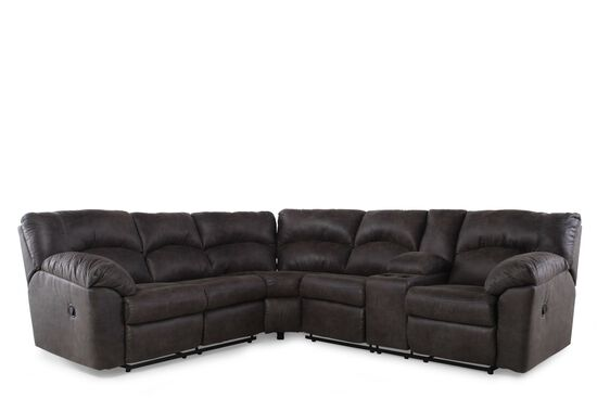 "Contemporary 187"" Sectional in Black"