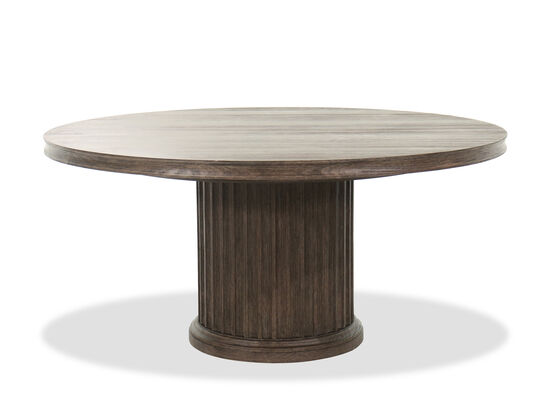 "64"" to 86"" Traditional Extendable Round Table in Brown"