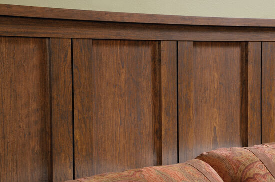 "Contemporary 56"" Full/Queen Headboard in Milled Cherry"