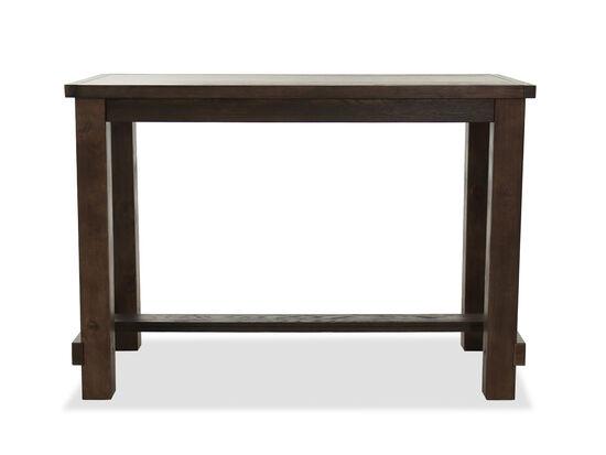 "Modern 60"" Rectangular Bar Table in Brown"