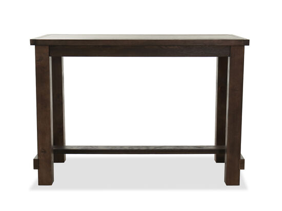 "Modern 60"" Rectangular Bar Table in Brown"