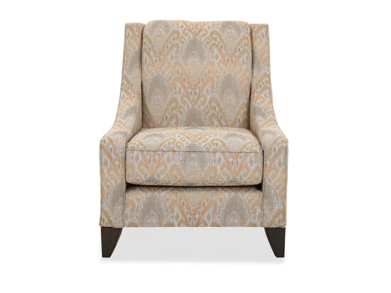 Casual Abstract Patterned Accent Chair