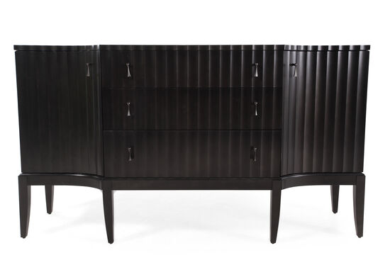 "30"" Sinuous Credenza in Dark Brown"