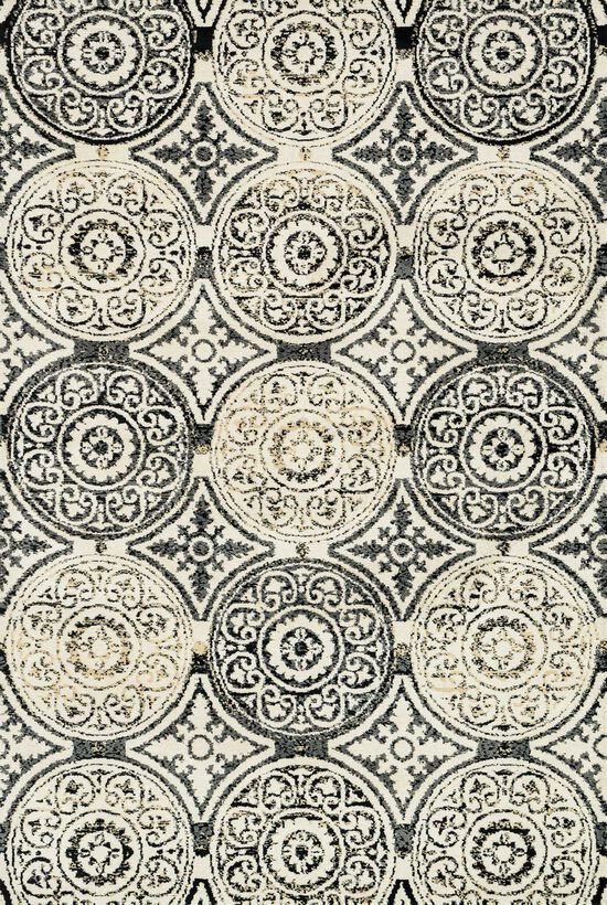 """Transitional 3'-6""""x5'-6"""" Rug in Black/Gold"""