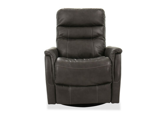 "Contemporary Swivel Glider 32"" Recliner in Grey"