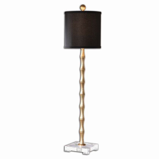 Bamboo Buffet Lamp in Antiqued Gold Leaf