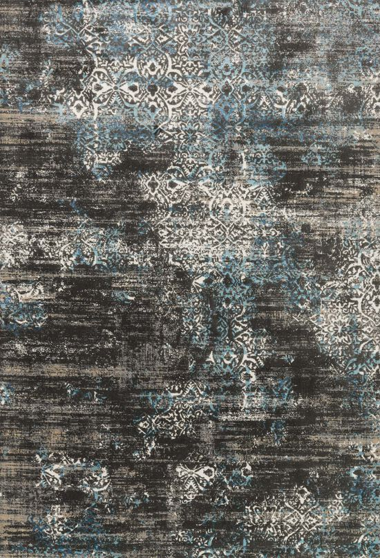 """Transitional 2'-7""""x8'-0"""" Rug in Charcoal/Blue"""