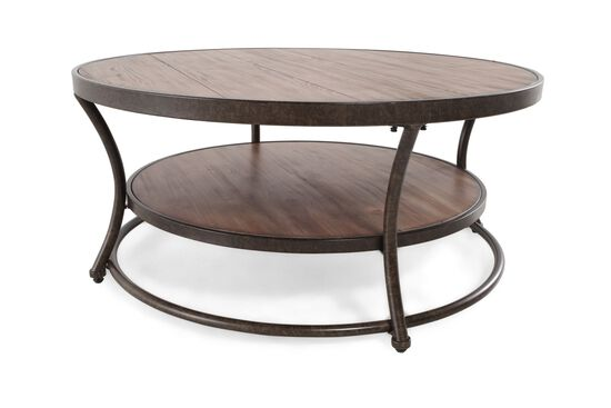 Stacked Casual Cocktail Tablein Pine