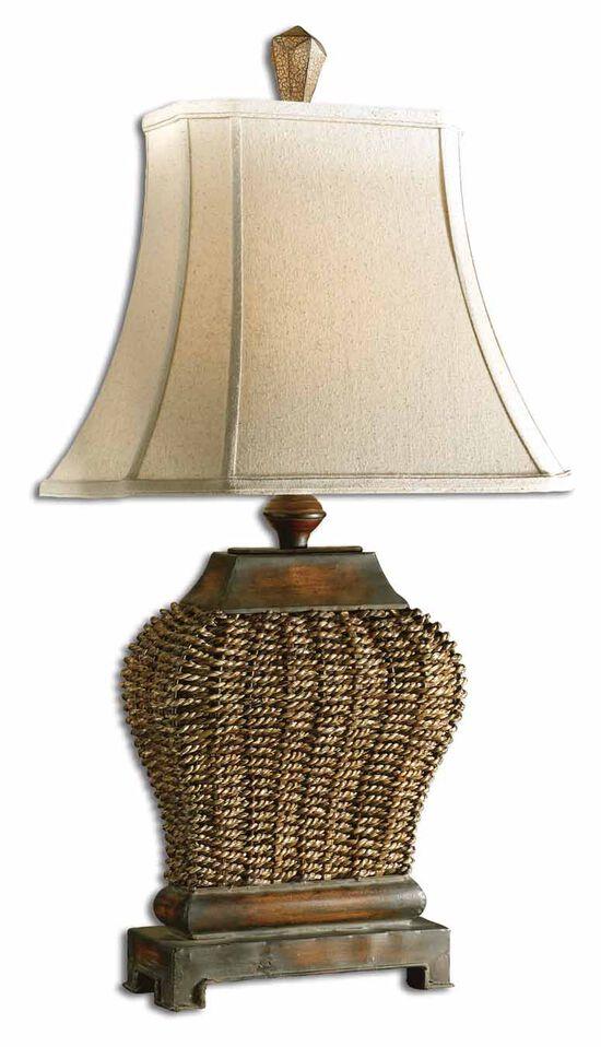 Bell Shade Table Lamp in Mahogany
