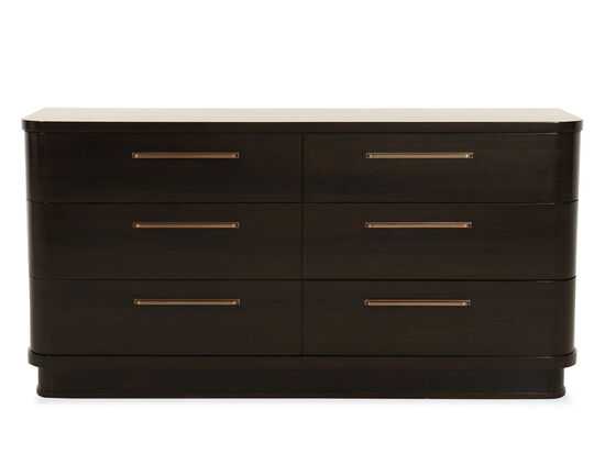 Six-Drawer Contemporary Dresser in Aged Bourbon