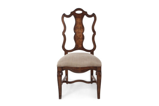 Splat Back 45'' Dining Chair in Dark Brown