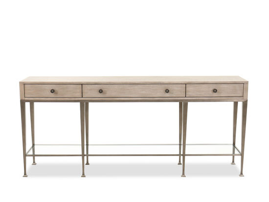 Traditional Rectangular Console Table in Sandstone