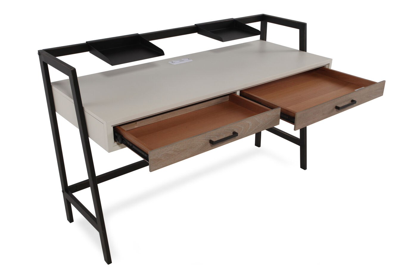Two Drawer Contemporary Youth Desk Nbsp In Light White