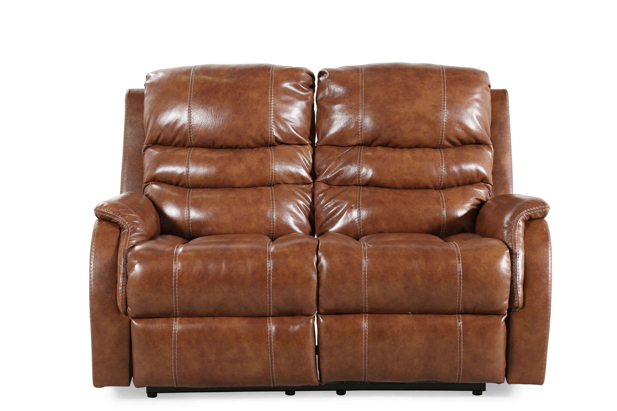 Power Reclining Transitional 60 Loveseat With Adjustable Headrest