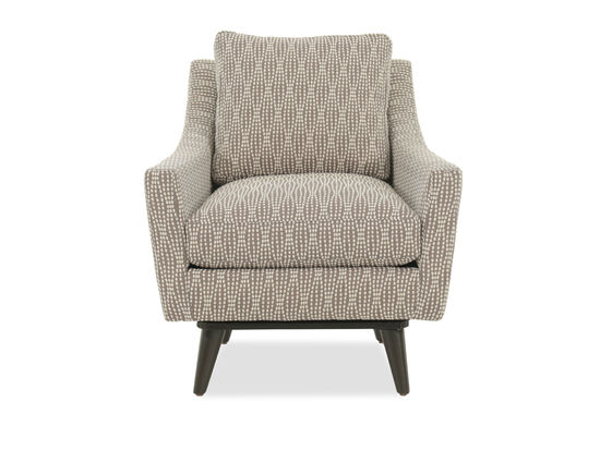 "Dot Patterned Casual 31"" Swivel Chair"
