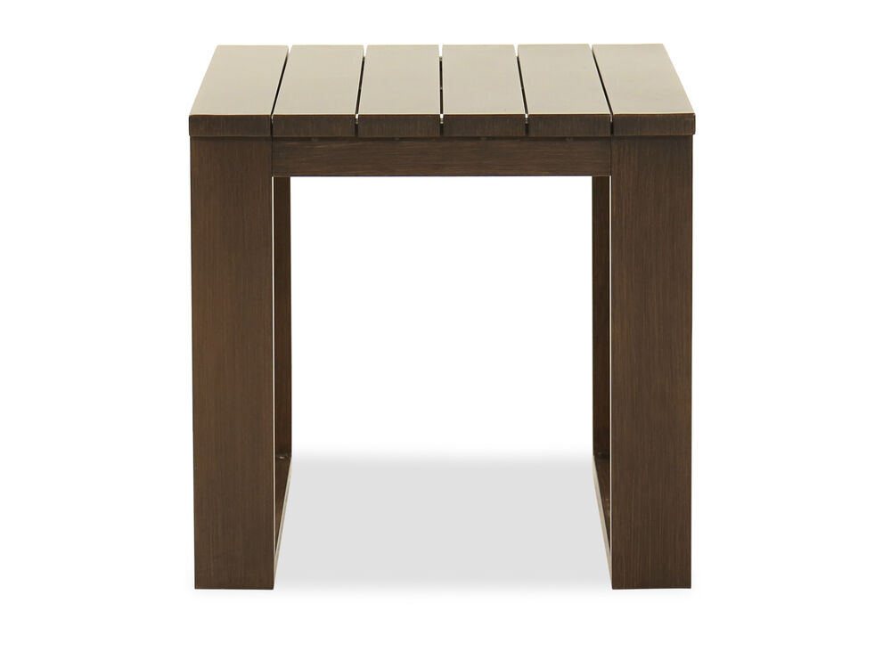 Contemporary Aluminum End Table in Dark Brown