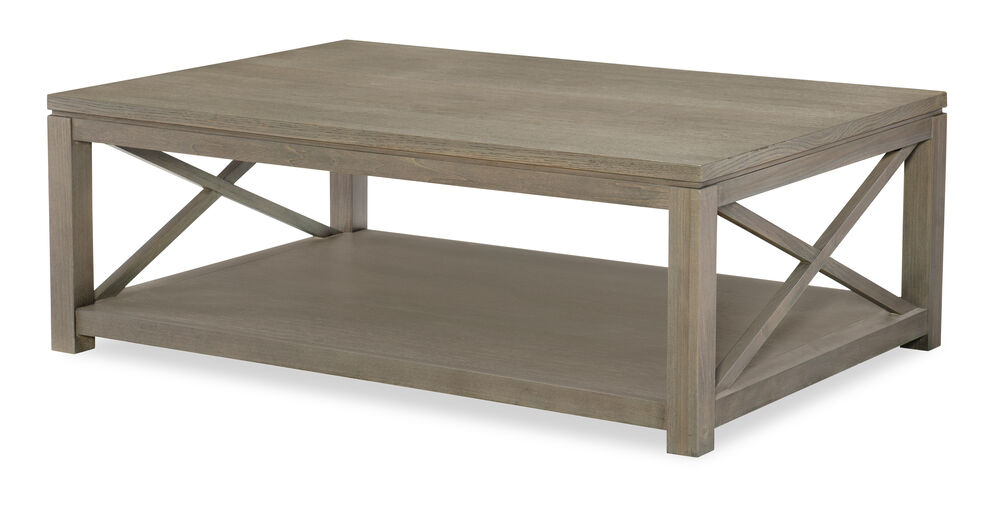 Highline Greige Rectangle Cocktail Table Mathis Brothers Furniture