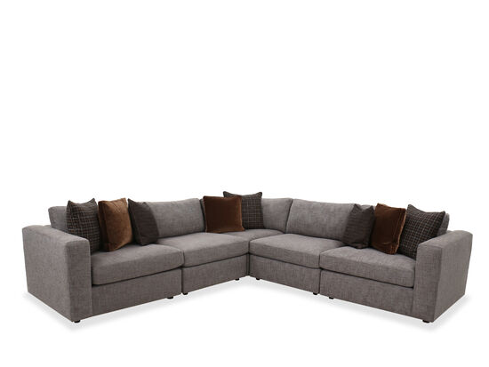 Five-Piece Casual Sectional in Gray