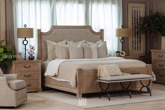 """32"""" Casual Three-Drawer Nightstand in Cypress"""