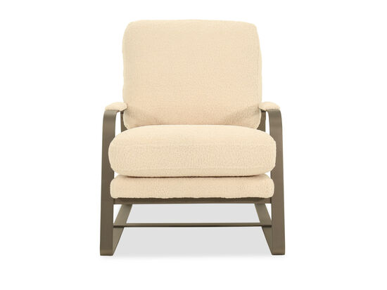Upholstered Modern 27'' Arm Chair in Cream