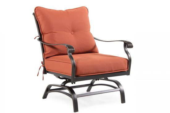 Curved Arm Aluminum Motion Chair in Orange
