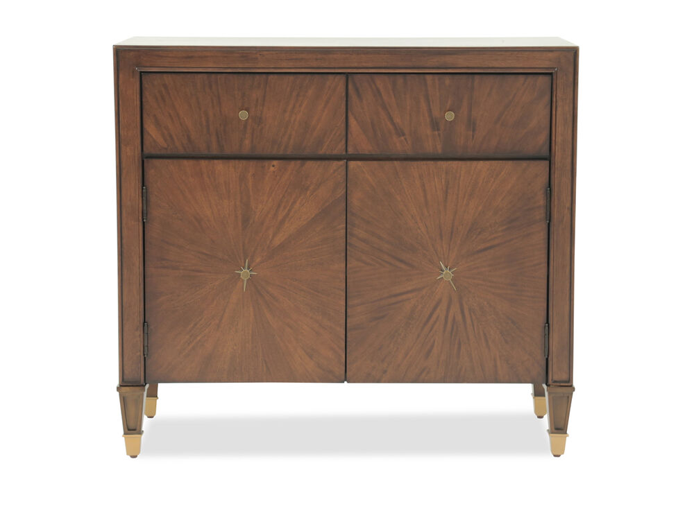36'' Transitional Starburst-Patterned Accent Chest in Brown