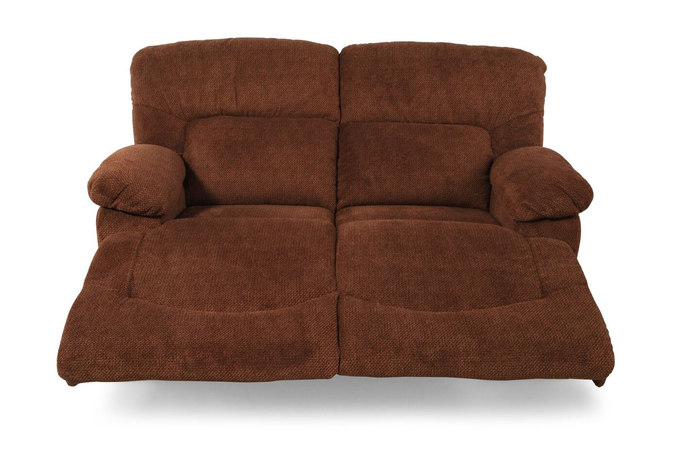 Reclining Contemporary 65 Quot Loveseat In Caramel Mathis