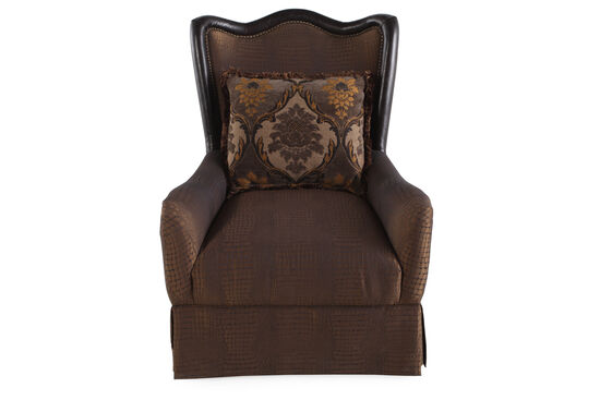 "Skirted Traditional 32"" Accent Chair in Sable"