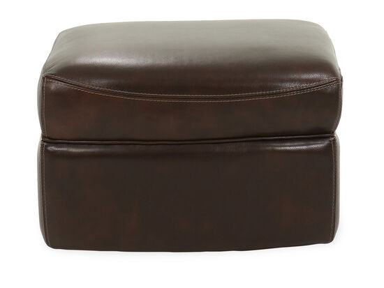 "Casual 25"" Leather Ottoman in Coffee"