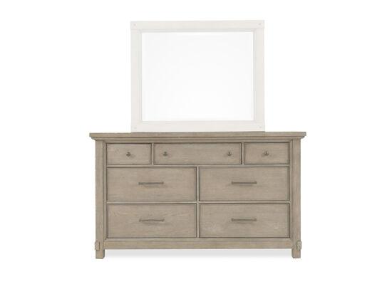 "40"" Distressed Seven-Drawer Dresser in Breezy Gray"