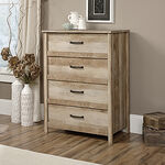 "41.5"" Traditional Four-Drawer Chest in Lintel Oak"