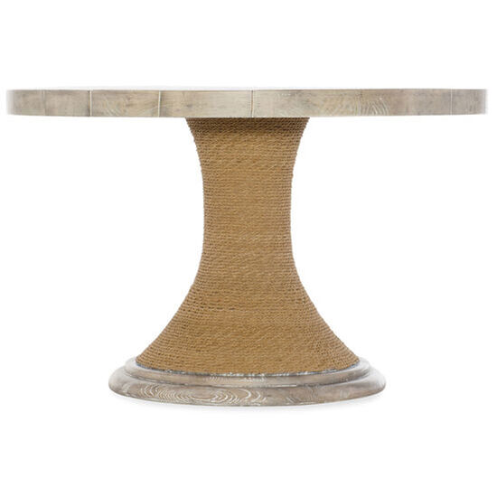 "Amani 48"" Round Pedestal Dining Table in Light Wood"
