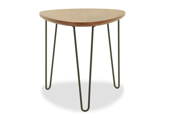 Modern Triangle End Table in Brown