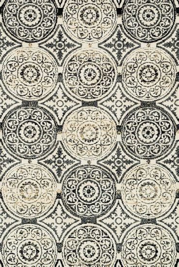 "Transitional 3'-6""x5'-6"" Rug in Black/Gold"