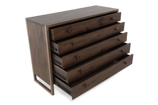 """36"""" Contemporary Chest of Drawers in Brown"""