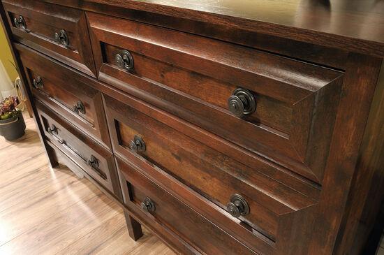 "35"" Contemporary Paneled Six-Drawer Dresser in Curado Cherry"