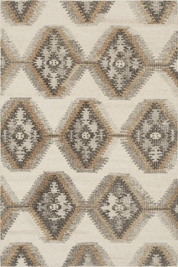 "Transitional 7'-9""x9'-9"" Rug in Ivory/Camel"